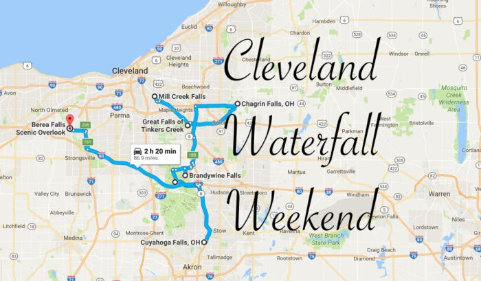 Here's The Perfect Weekend Itinerary If You Love Exploring Cleveland's Waterfalls