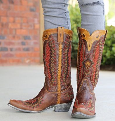 Shop the Old Gringo Eagle Chaquira Brass Boots L1567-2 at Rivertrail Mercantile. Enjoy fast and free shipping on all Old Gringo Boots at Rivertrail.