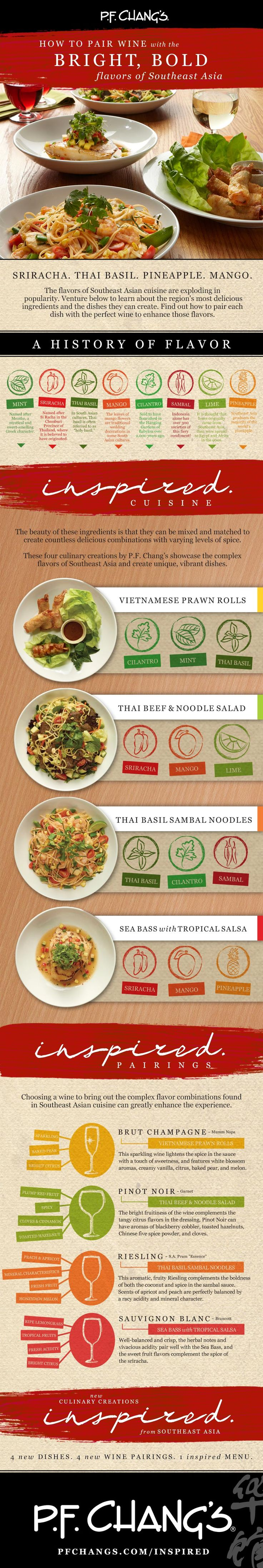 Pairing #wines with south east #Asian #foods - Discover more in this #infographic - http://www.finedininglovers.com/blog/food-drinks/pairing-wine-with-asian-foods/