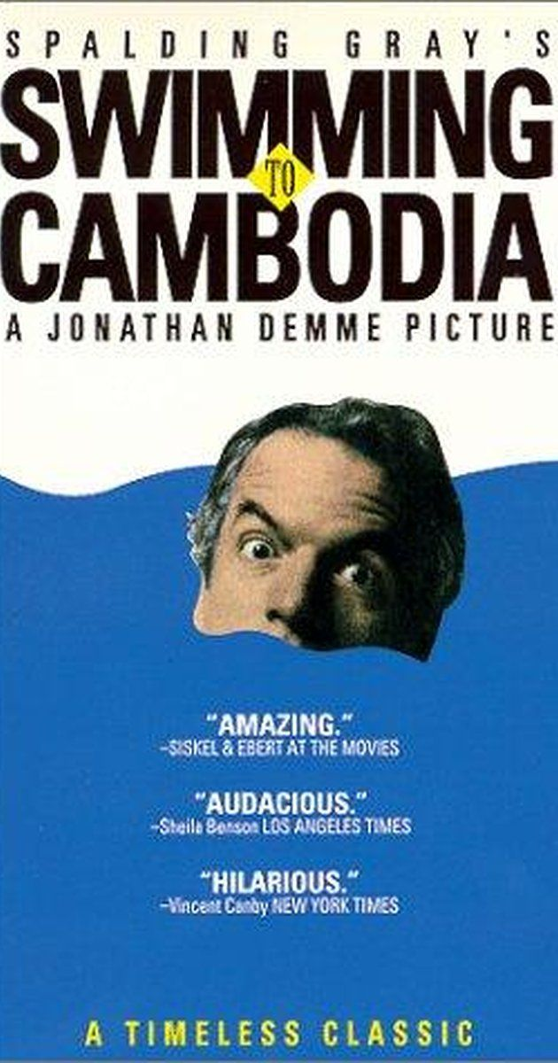 "Directed by Jonathan Demme. With Spalding Gray, Sam Waterston, Ira Wheeler. Spalding Gray tells about his participation in the film, ""The Killing Fields"" & the background story about the troubles of Cambodia."