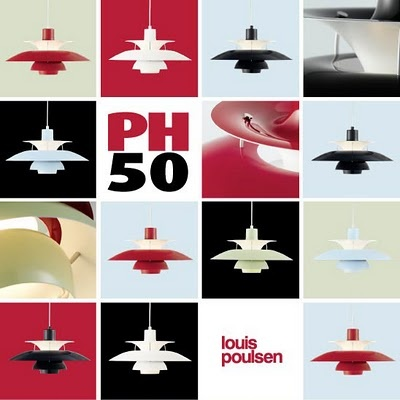 Louis Poulsen - PH50 lamps A special edition with the 5 special colors used by Arne Jacobsen in the SAS hotel in Copenhague.  Distributed in Belgium and Luxembourg by www.hugo-neumann.com