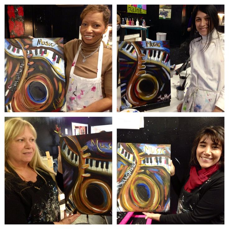 Students at hwy 280 create some awesome saxophone paintings!