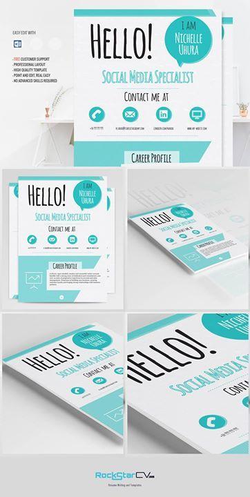 Creative Resume Template Berenices http://rockstarcv.com/product/berenices-resume-template #Resumes #Resume Format #Modern Resume #Word Resume