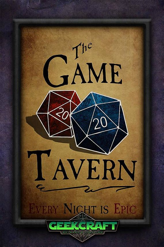 Game Tavern D20 D&D DnD RPG 20 sided Dice Game Room