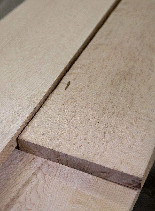 Acer saccharum, Birds Eye Maple lumber and wood