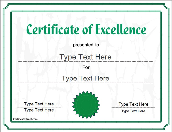 40 best Business Certificates Template – Certificates of Excellence Templates