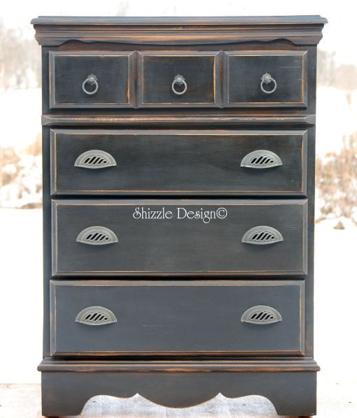 Tall Black Dresser Inspired by Pottery Barn-$225