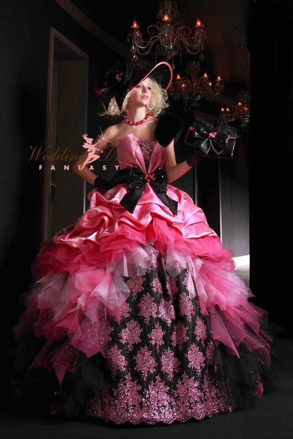 gothic black and pink wedding dresses images galleries with a bite. Black Bedroom Furniture Sets. Home Design Ideas
