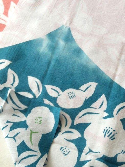 新作手ぬぐい 花さか富士山 - テキスタイルデザインとイラスト 原田史子の仕事