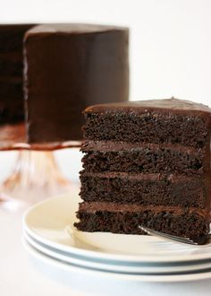My American version of the Mud Cake is full of rich chocolate flavor, yet is moist and well structured.