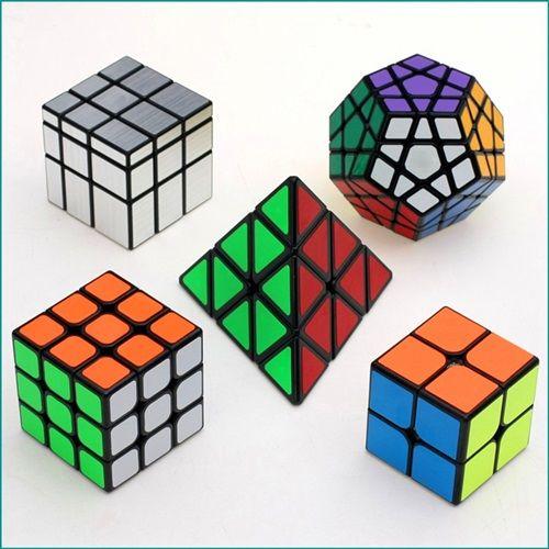 Zcube New Original Specific Speed 5pcs/Lot Magic Cube Sets (Include 2x2x2,3x3x3,Mirror,Pyraminx,Megaminx)-Pack Of 5 #puzzles