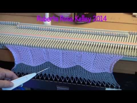 Красивый рельефный край изделия на вязальной машине Нева-2 . часть1 - YouTube