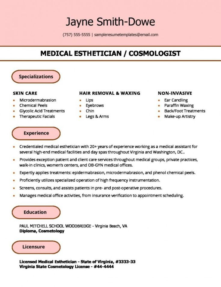 13 esthetician resume pattern esthetician resume resume