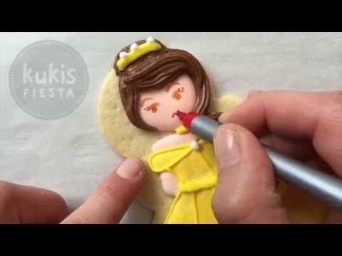 Pintar una galleta princesa / Cookie princess tutorial - YouTube