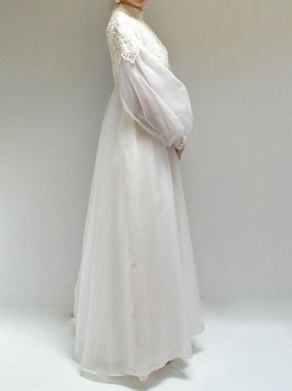 ヴィンテージウェディングドレス 196295858 60s EmmaDombトレーンなし …