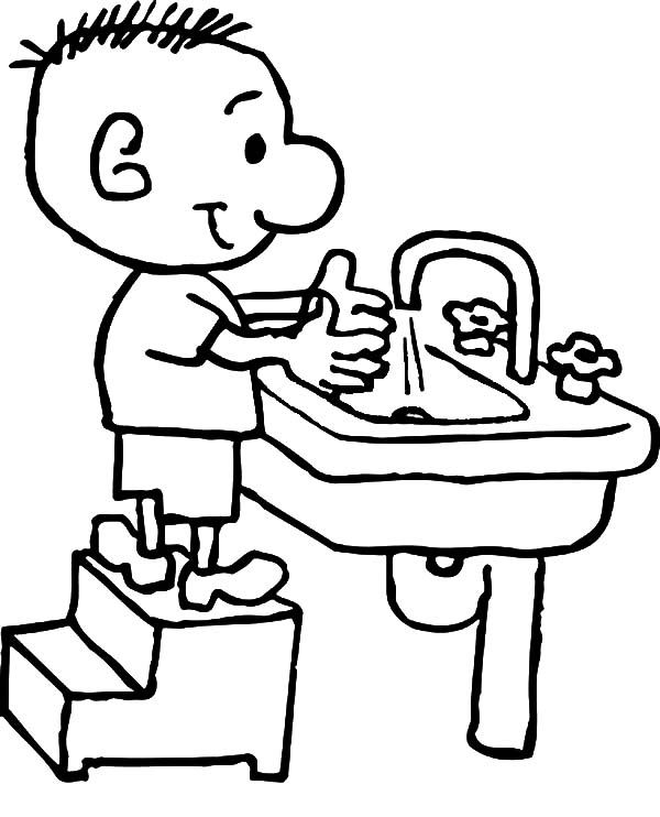 Kid Want To Washing Hand Coloring Pages Coloring Pages Coloring Pages For Kids Coloring For Kids