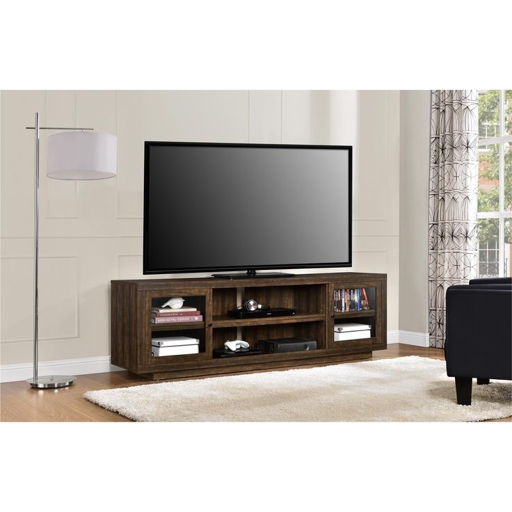 Dorel Home Furnishings Bailey Espresso TV Stand, Brown