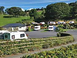 the caravan site for adults only in snowdonia
