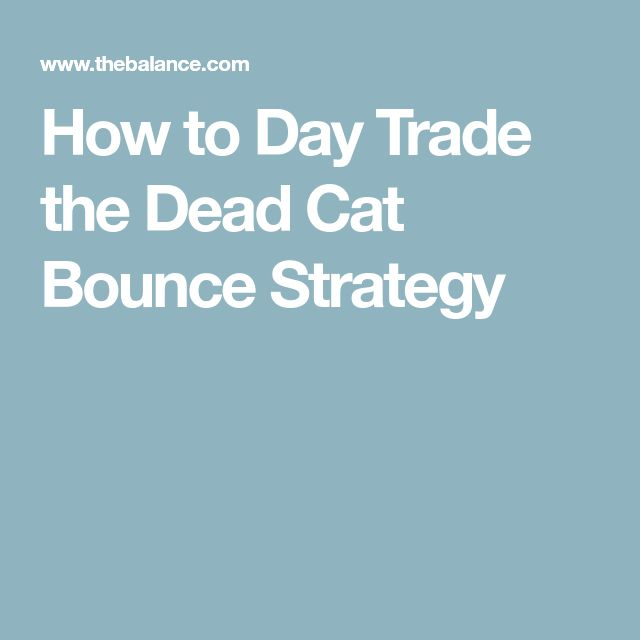 How to Day Trade the Dead Cat Bounce Strategy