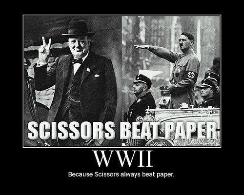WWIIHistory, Rocks Paper Scissors, Peace, Funny, Beats Paper, Humor, Winston Churchill, Scissors Beats, True Stories