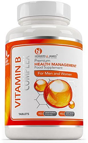 The Product VITAMIN B COMPLEX (365 Tablets) Vegetarian & Vegan Friendly Tablets | Contains 100% RDA of all eight B Vitamins in one tablet – B1, B2, B3, B5, B6, B12, D-Biotin & Folic Acid by Howard & Jam1es (365 Tablets)  Can Be Found At - http://vitamins-minerals-supplements.co.uk/product/vitamin-b-complex-365-tablets-vegetarian-vegan-friendly-tablets-contains-100-rda-of-all-eight-b-vitamins-in-one-tablet-b1-b2-b3-b5-b6-b12-d-biotin-folic-acid-by-howard-j