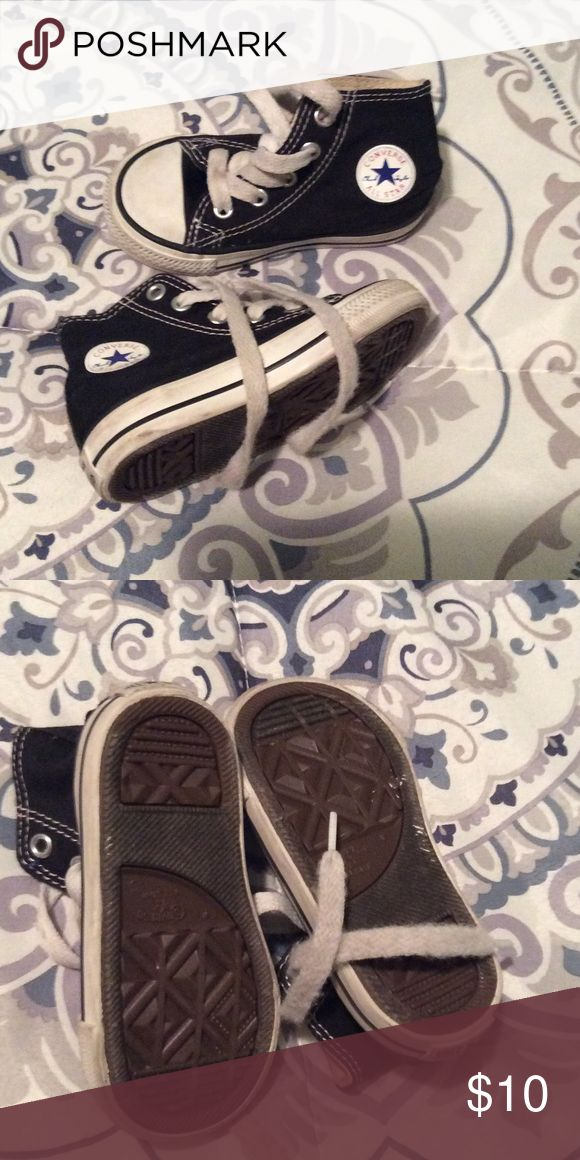 High top toddler converse sneakers Worn but good condition converse sneakers. Great to go with a pair of jeans or camouflage shorts. Converse Shoes Sneakers