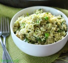 avocado lime cilantro rice- per my sister's suggestion, add steak or shrimp for protein