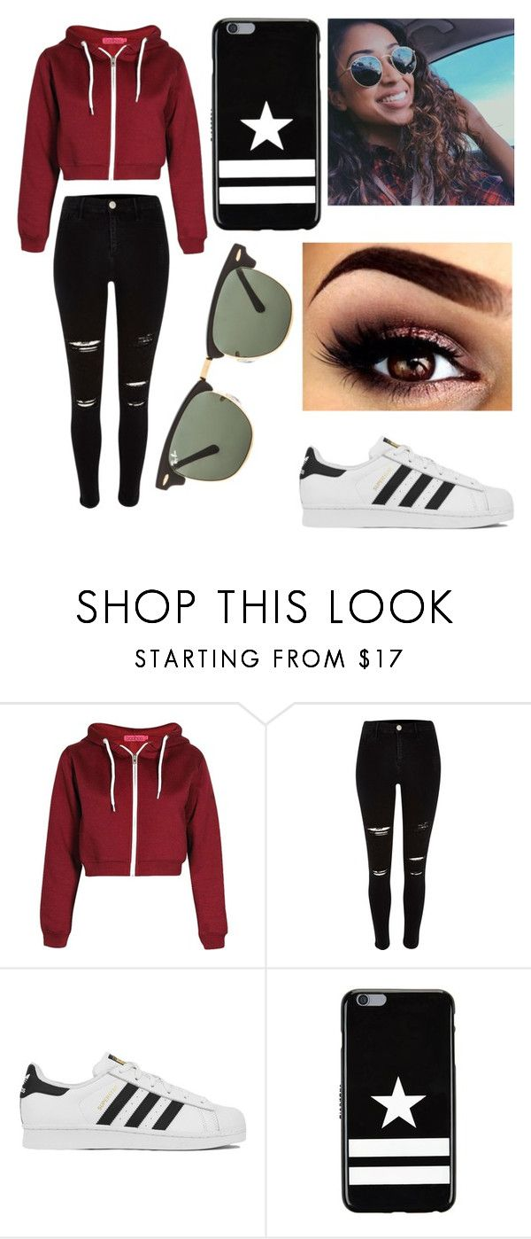 """Inspired by Liza Koshy"" by maya-hopman ❤ liked on Polyvore featuring mode, adidas, Givenchy en Ray-Ban"