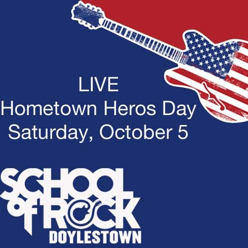 #SchoolofRock #Doylestown LIVE @ Hometown Heros Day Saturday, October 5 Location: Horsham Air Force Base @figdoylestown http://ow.ly/pnLRJ