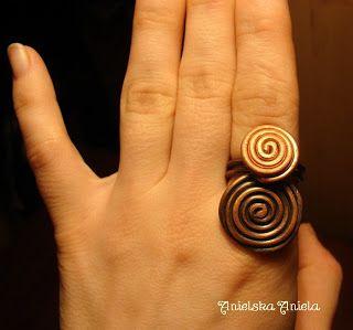 Oxidized copper ring..oksydowany  miedziany pierścionek...