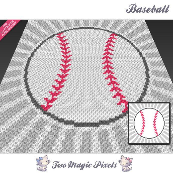 Baseball Crochet Graph C2c Mini C2c Sc Hdc Dc Tss