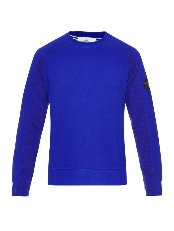 Crew neck cotton-fleece sweatshirt | Stone Island | MATCHESFASHION.COM UK