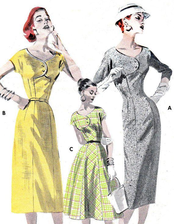 1950s Dress Pattern Butterick 7787 Empire Waist Day by paneenjerez, $30.00