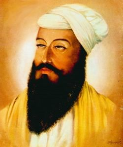 the ninth Guru Tegh Bahadur sacrificed his own life, facing down EmperorAurangzeb on behalf of the Kashmiri Hindus, ending Aurangzeb's threat to either convert to Islam or be executed.
