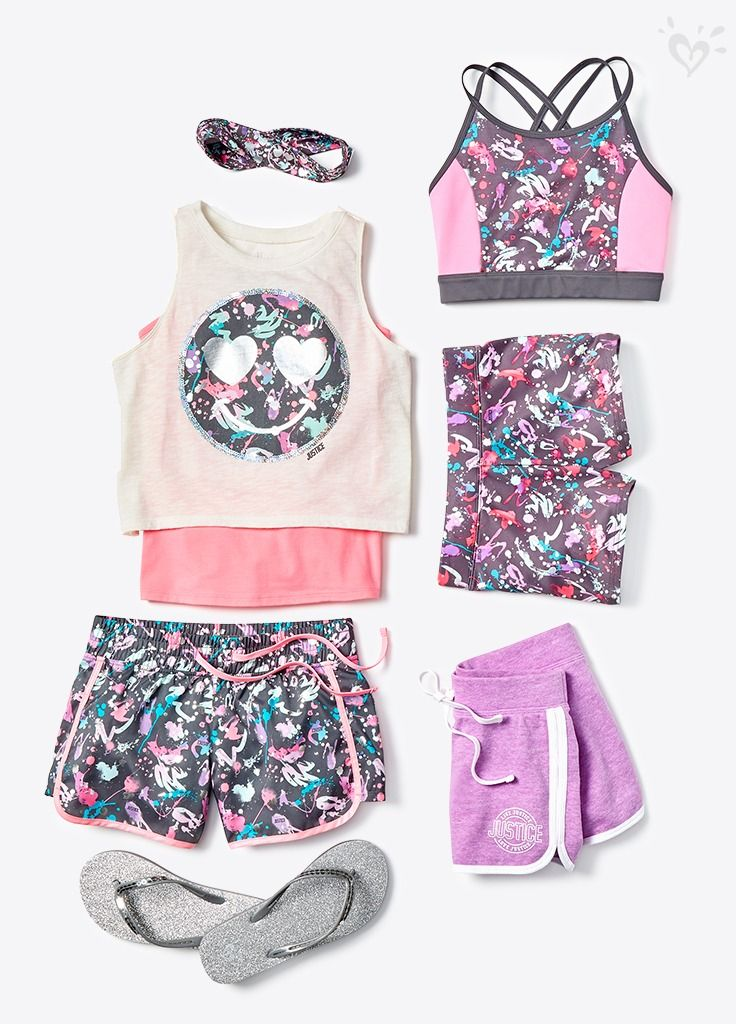 New can't-miss activewear tanks, shorts and accessories to mix and match your way.