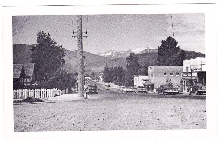 Street scene in Terrace, British Columbia circa 1960s