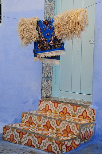 Rugs drying on the line in the Moroccan sun - Moroccan Style - Shadowflower