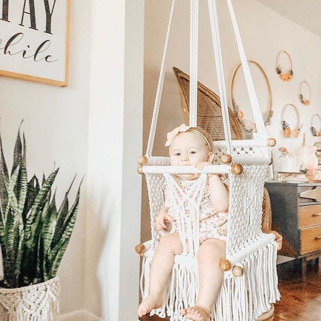 Macrame Hammock Children S Swing Chair Handmade In Nicaragua Unisex Baby Room Childrens Swings Baby Hammock Swing