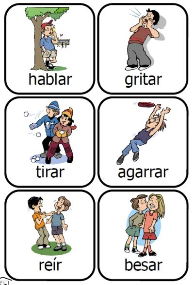 What a fun way to learn Spanish verbs!  48 printable cards -- PrintableSpanish.com