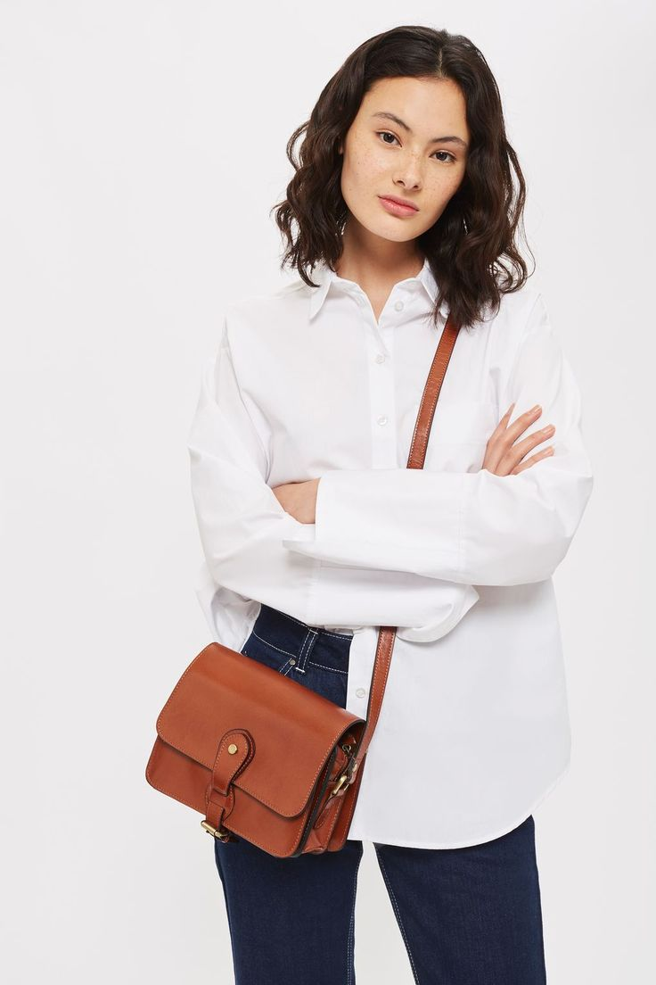 OSMAN Leather Vintage Crossbody Bag - Topshop