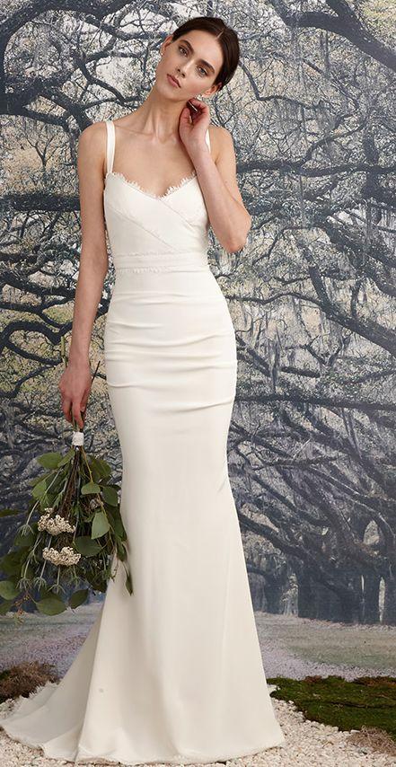 Featured Dress: Nicole Miller; Wedding dress idea.