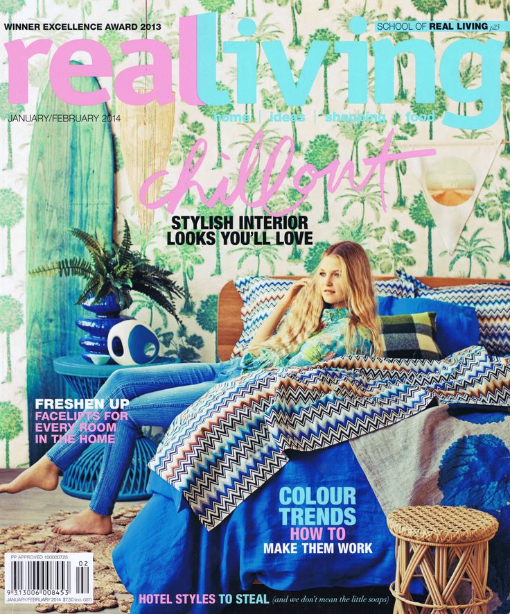 Real Living January / February 2014 Cover Brooke Aitken Design