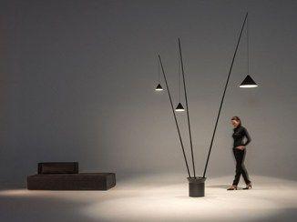 Floor lamp LED carbon fiber NORTH |  Floor lamp - Vibia