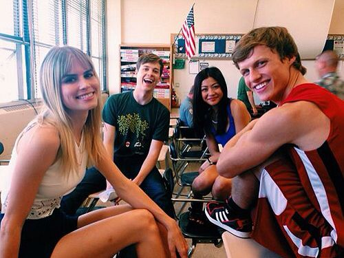 Scream MTV TV show 2015 cast. Carlson Young, John Karna, Brianne Tju, & Connor Weil