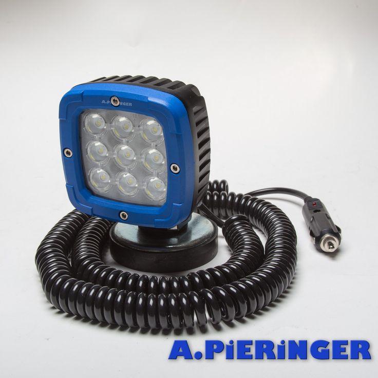 LED Arbeitsscheinwerfer 2800 100x100x74 mit Magnetfuss 12V 24V 48V