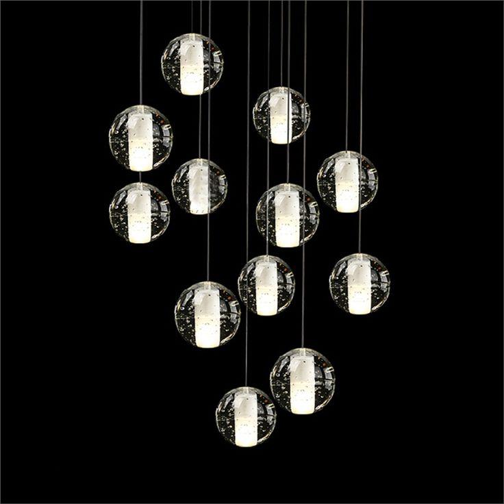 Kaufen EU LagerPendelleuchte Modern Kristall Galvanisiert Transparent Kugel Mit Gnstigste Preis Und Gute