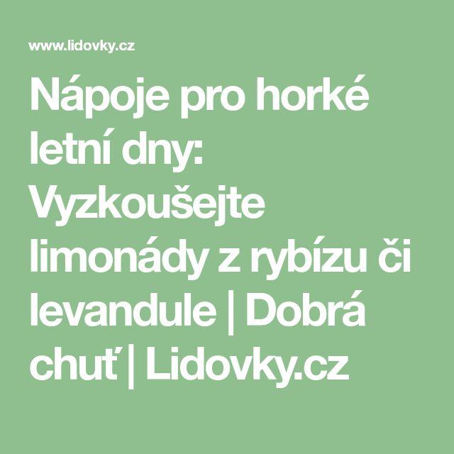 Nápoje pro horké letní dny: Vyzkoušejte limonády z rybízu či levandule   Dobrá chuť   Lidovky.cz
