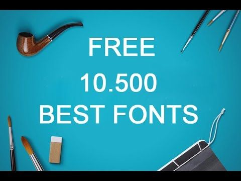 Best FREE Fonts to Use for YouTube 2017! for Designer, Graphic, Banners,...