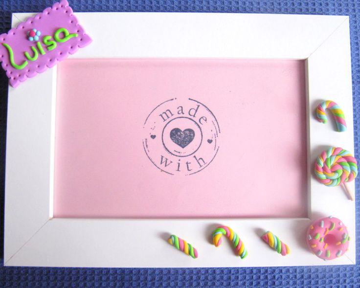 Personalisierte Bilderrahmen Donut von EL MUNDO DE PAULA auf DaWanda.com