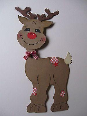 Fensterbild ~ Rudi Rentier Rudolph Elch Rudolf ~ Weihnachten Tonkarton conchila